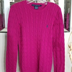 Pink Cable Knit Sweater Sz M